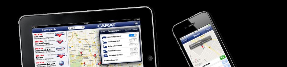 Carat Werkstatt Finden App