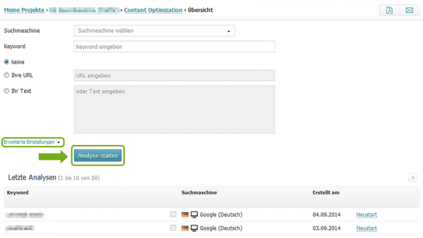 Searchmetrics Content Optimization